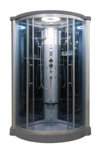 Sliding Door Steam Shower Enclosure Unit Glass: Blue