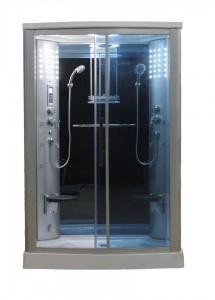 Sliding Door Steam Shower Enclosure Unit Glass Color Blue