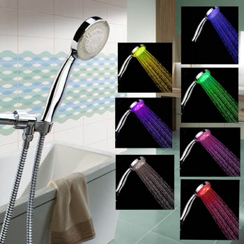Color Changing 12 LED Shower Head with Shower Hose Reivews